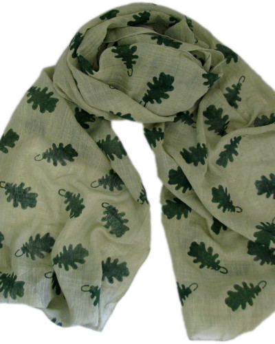 leaf print ethical scarf from Where Does It Come From?