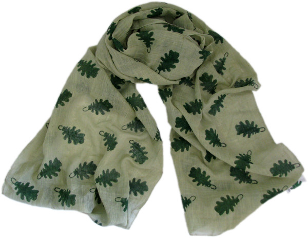 Scarf gift voucher leaf print ethical scarf from Where Does It Come From?