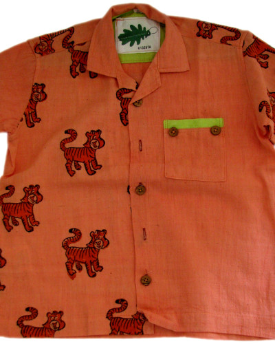 organic tiger shirt - ethical, fairtrade, traceable clothing