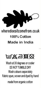 Garment Care - How to look after your Where Does It Come From? garment