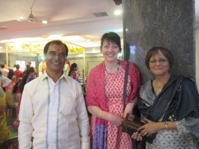 Meeting our makers: Jo Salter from Where Does It Come From? and Shailini Sheth Amin from Moral Fibre with Rajubhai the tailor www.wheredoesitcomefrom.co.uk