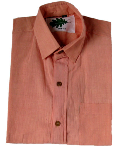 organic pink shirt story from Where Does It Come From? ethical clothes that come with their story