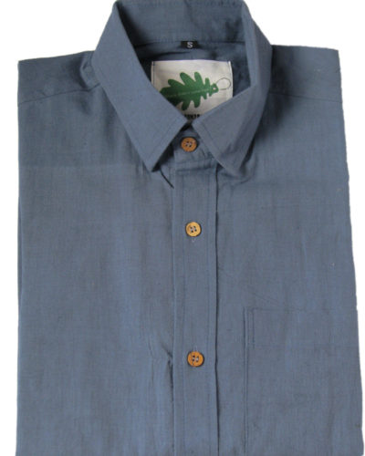 storm blue organic shirt from Where Does It Come From? ethical clothing