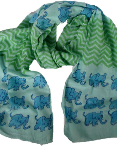 blue elephant scarf from Where Does It Come From? wheredoesitcomefrom.co.uk