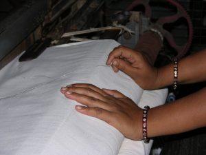 organic pale blue shirt aqua organic shirt natural fabric weaving