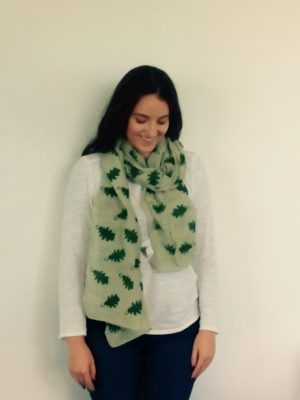 877545d7bf Leaf Print Scarf created using traditional techniques - Where Does ...