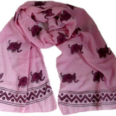 pink elephant scarf from Where Does It Come From? www.wheredoesitcomefrom.co.uk ethical fairtrade handwoven traceable