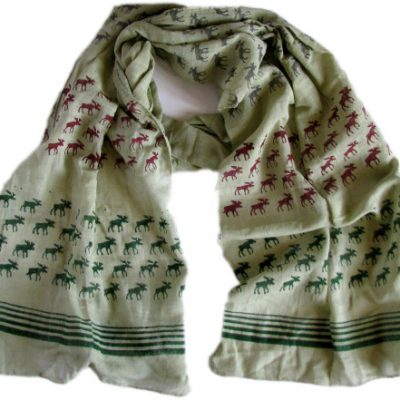 green moose scarf from Where Does It Come From?
