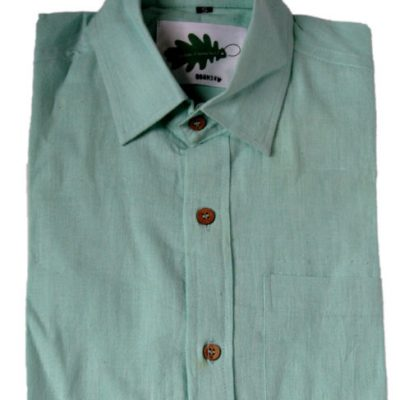 organic shortsleeved shirt - aqua