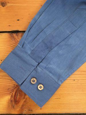 organic blue shirt