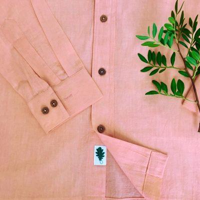organic pink shirt