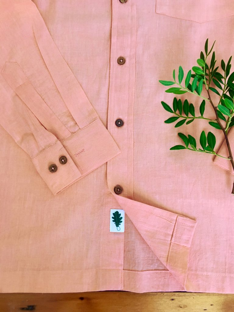organic pink shirt khadi connections
