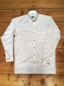 organic white shirt size guidance