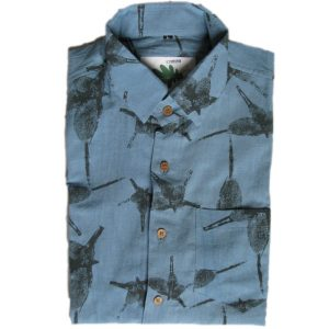 micro fossil organic shirt