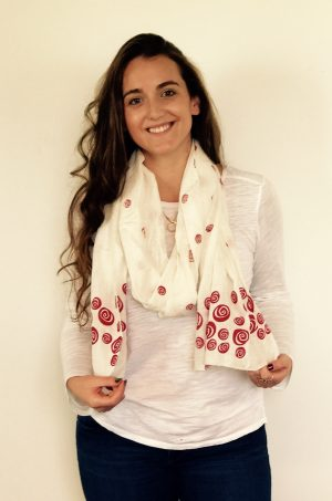 red rose scarf