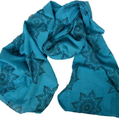 Preeti Flower Scarf from Where Does It Come From? wheredoesitcomefrom.co.uk ethical clothing
