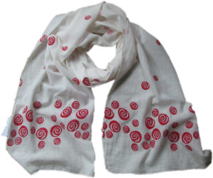 red roses scarf from Where Does it Come From?