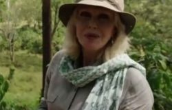 joanna Lumley wears Where Does It Come From? ethical elephant scarf