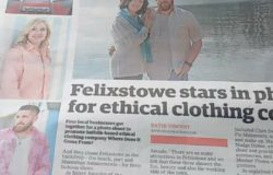 EADT covers Where Does It Come From? ethical clothes photoshoot collaboration in Felixstowe