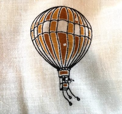 hot air balloon scarf