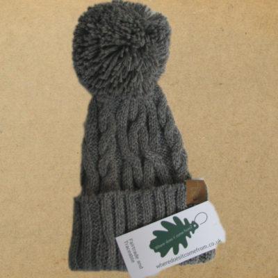 grey alpaca hat