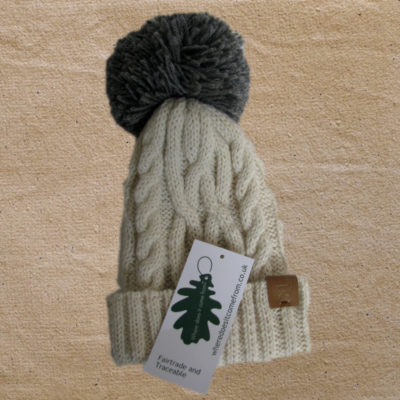9f2da0ca4ee Alpaca Hat with bobble - Sustainable and Traceable