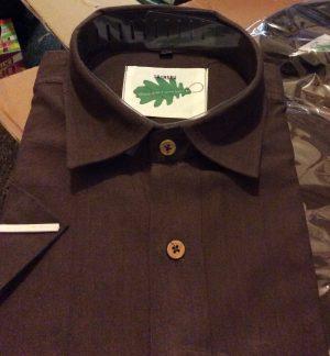 Organic brown shirt