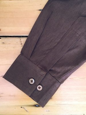 organic brown shirt