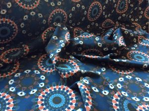 organic cotton blue mandala