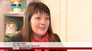 jo salter talks be the change awards on bbc look east
