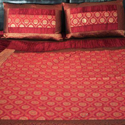 pink silk duvet set