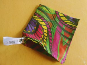 african pocket square green peacock feather